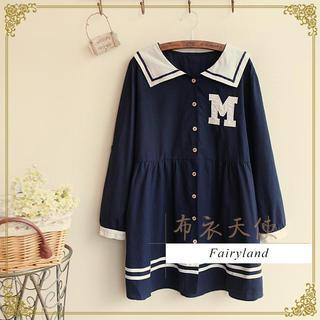 Fairyland - Sailor Collar Long-Sleeved Tunic