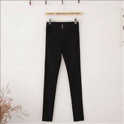 Maymaylu Dreams - 黑色长裤。超强力弹性包腿裤