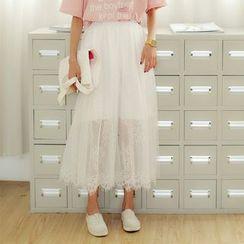 AiAi Bear - Lace Trim Maxi Skirt