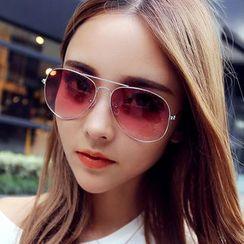 Oulaiou - Gradient Aviator Sunglasses