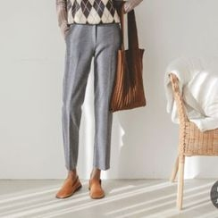 JUSTONE - Wool Blend Tapered Dress Pants