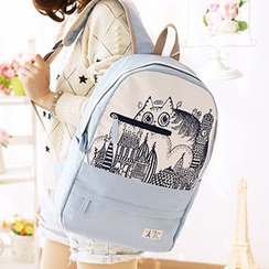 Canvas Love - Printed Canvas Backpack