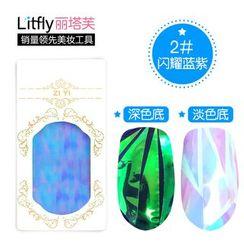 Litfly丽塔芙 - 指甲琉璃贴纸 ( 闪耀蓝紫)