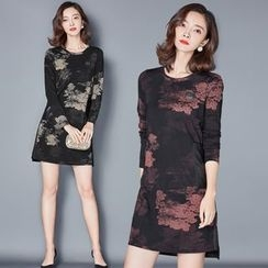 AiSun - Printed Long Sleeve Dress