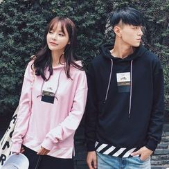 FULLHOPE - Couple Matching Print Hooded Pullover