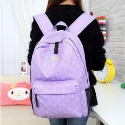 Miss Sweety - Anchor-Print Canvas Backpack