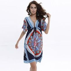 Hotprint - Print Beach Cover-Up Dress