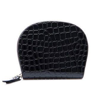 BeiBaoBao - Croc-Grain Zip Wallet