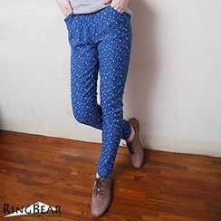 RingBear - Star Print Slim Fit Pants