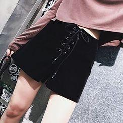 SHERRY - 前系带短裤