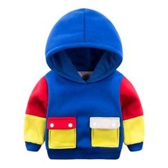 DEARIE - Kids Color Panel Pocketed Hoodie