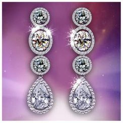 Nanazi Jewelry - Crystal Drop Earrings