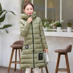 Jolly Club - Hooded Padded Applique Zip Coat