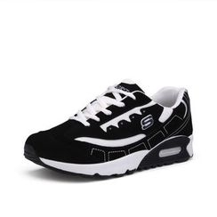 EnllerviiD - Faux-Leather Athletic Sneakers
