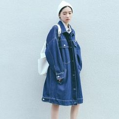 SUYISODA - Long Denim Jacket