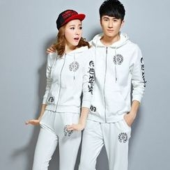 Lovebirds - Set: Couple Zip Hooded Jacket + Sweatpants