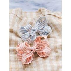 icecream12 - Striped Ribbon Barrette