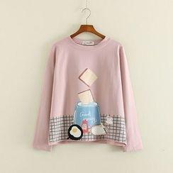 Mushi - Printed Long-Sleeve T-Shirt