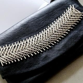 NANING9 - Faux-Leather Flap Clutch