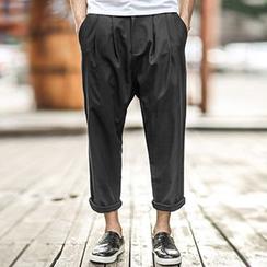 Mannmix - Capri Wide-leg Pants
