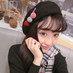 Miss Floral - 毛球胸針