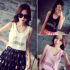 QZ Lady - Lettering Tank Top