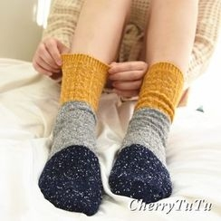 櫻桃兔兔 - 撞色襪