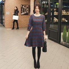 mimi&didi - Plaid A-Line Dress