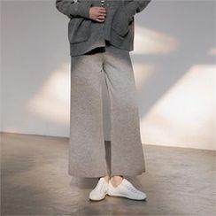 MAGJAY - Wool Blend Wide-Leg Pants