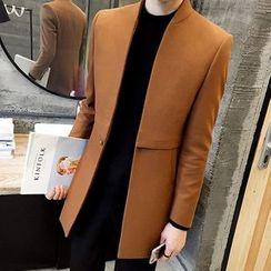 ZONZO - Plain Long Woolen Coat