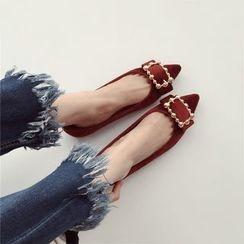 Linda Lane - 珠珠饰结平跟鞋