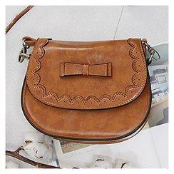 Sechuna - Faux-Leather Shoulder Bag