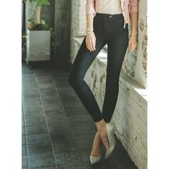 GUMZZI - Cotton Blend Skinny Pants