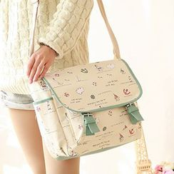 Canvas Love - Print Canvas Messenger Bag