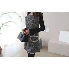 DAILY LOOK - Sleeveless Fringe-Trim Dual-Pocket Dress