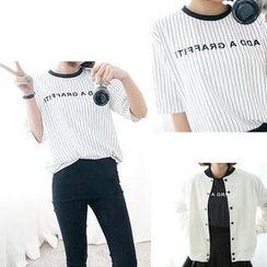 MATO - Lettering Short-Sleeve T-Shirt