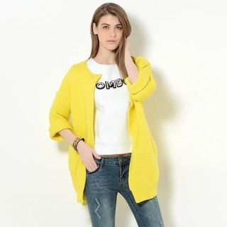 YesStyle Z - Snap Button Long Cardigan