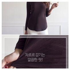 MASoeur - Round-Neck Dip-Back T-Shirt