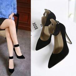 Monde - Ankle High-Heel Pumps