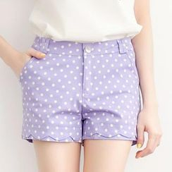 Tokyo Fashion - Scalloped Trim Dotted Shorts