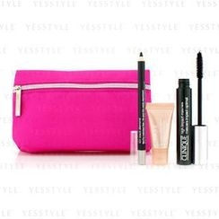 Clinique 倩碧 - High Impact Favourites Set: High Impact Mascara + Cream Shaper For Eyes + All About Eyes Serum + Bag