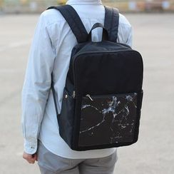 ideer - Kendall Black Marble Backpack