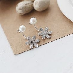 Love Generation - Freshwater Pearl Flower Ear Jacket