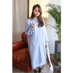 PPGIRL - Round-Neck Long Pullover Dress