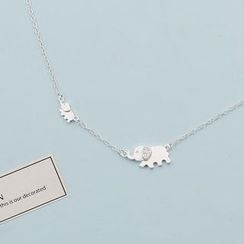 Love Generation - Rhinestone Elephant Necklace