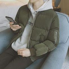 qiaqiayes - 纯色夹棉立领外套