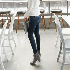 ZIZIBEZIRONG - Brushed-Fleece Lined Skinny Jeans
