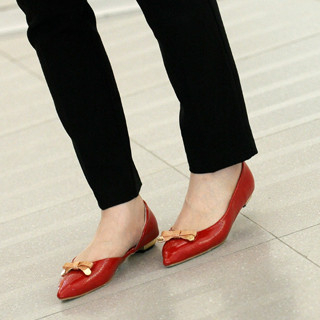 59 Seconds - Bow-Accent Pointy Flats