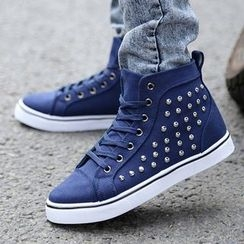 Easy Steps - Studded Canvas Sneakers
