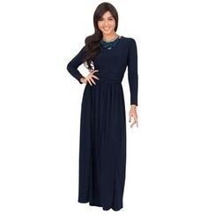 Hotprint - Long-Sleeve Maxi Dress